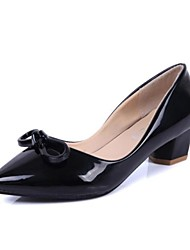 Women's  Shoes Smandy Pointed Toe Chunky Heel  Pumps Women's Shoes with Bowknot More Colors available