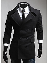 Wshgyy Men's Wool Long Coat