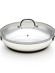 BODEUX® Non-sticky No-coating No-smoke Universal Sauté Pans 28cm 304 Stainless Steel Dia 28cm*6.5cm