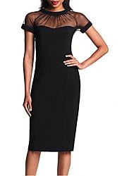 vicone Frauen Kurzarm-Netz schlanke bodycon schlanke Kleider