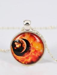 женская галактика звезда время драгоценный камень ожерелье