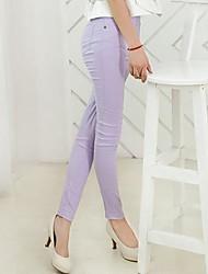 Women's Blue/Red/White/Black/Purple Skinny Pants , Casual