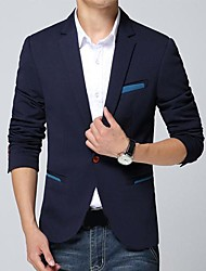 couleur pure blazer d'hommes