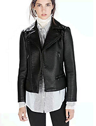 la mode vrouwen verdikken lange mouwen lederen jassen