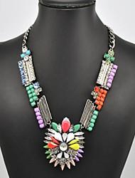 Women's Multi Color Gem Necklace