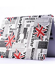 Hot Selling Union Jack Leather Pattern Folio Protect Case for 13.3 Macbook Retina