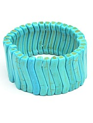 JANE STONE Women's Statement Chain Turquoise Bib Funky Stylish Bracelet
