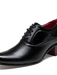 Men's Shoes Leatherette Spring Summer Fall Winter Comfort Oxfords For Casual Office & Career Black