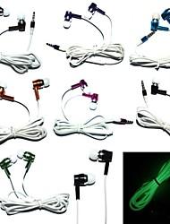 noctilucence licht in de nacht sport headset mentale oordopjes stereo hoofdtelefoon voor iphone / iphone / ipod / pc