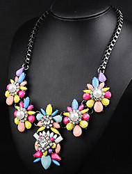 Moon Year Women's  Jewel Diamante Pearl Necklace