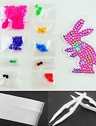 Rose Rabbit 5mm Perler Beads Kit Fuse Hama Beads(Suitable Color Beads Set+1 Pegboard+1 Ironing Paper+1 Tweezer)
