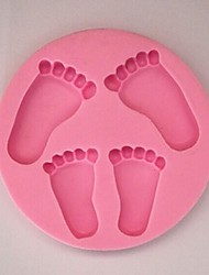 Feet Baking Fondant Cake Chocolate Candy Mold,L14cm*W14cm*H1.4cm SM-300
