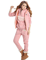 Women's Korean Style Hoodie Leisure Three Piece Suits