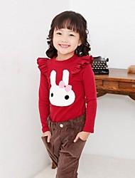 meisje konijn afdrukken kant met lange mouwen t-shirt