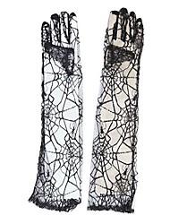 araignée dentelle noire gants gothiques Halloween accessoire