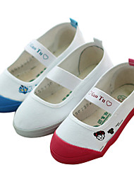 Girl's Spring Fall Comfort Canvas Flat Heel Blue Red White