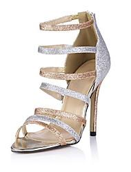 zapatos de las mujeres del dedo del pie abierto de las sandalias de tacón de aguja de los zapatos