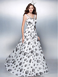 TS Couture Prom Formal Evening Dress - Pattern Dress Sheath / Column Scoop Floor-length Chiffon with Beading