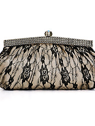 Acrylic/Lace Shell With Rhinestone Evening Handbags/ Clutches