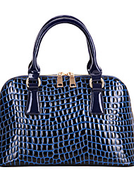 Jieshibo European Style Crocodile Pattern Tote  (Royal Blue)