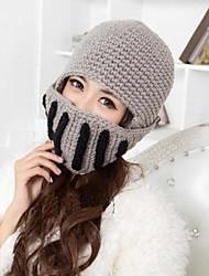 personalità di moda femminile calda roma maglia cavaliere paraorecchie maschera cappello