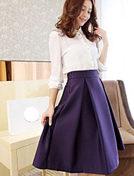 Women's Autumn/Winter To Restore Ancient Ways Of Tall Waist Large Pleated Skirts