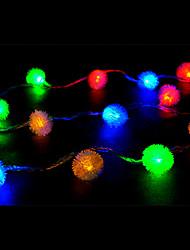 LED String Light 50 Lights Modern Snowball Shape Colorful Plastic 5m 220V