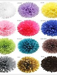 8 '(20cm) de tecido pom pom de papel flores coloridas para a festa do dia das bruxas casamento pendurado decoração 20 cores