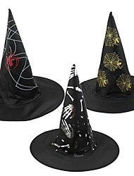 Unisex Witch Hat Make Up Props for Holloween(Random Color)