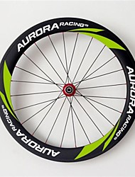 AURORA  700c Road Bike,Bicycle 60mm Depth 20.5mm Width Full Carbon Tubular Wheels,  R36 Hubs and Sapim CX-Ray Spokes