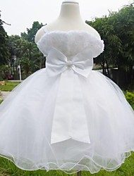 Girl's 2-7 Years Old Strap Bowknot Evening Wedding Party Dress