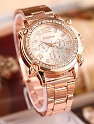 женская мода стразами стальной ленты кварцевые часы