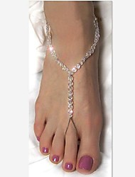 Women's All Handmade Beads Crystal Beads Anklet