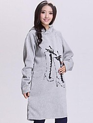 Maternity Long Fleece Lining Hooded Clothing Pregnant Women Hoodie Top