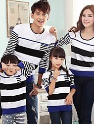 les parents de la mode et de loisirs des enfants de la famille Pull rayé col rond