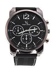 Shaopeng v6 halei lujo de cuero negro hombres del deporte de cuarzo reloj de pulsera waterpoof v60067
