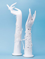 Wrist Length Fingerless Glove Lace Bridal Gloves / Party/ Evening Gloves Spring / Summer / Fall / Winter White