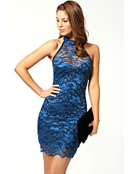 VICONE Women's Halter Lace Sexy Slim Dresses