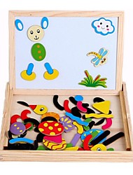 70 Pieces Qiao Eva Wooden Box Magnet Toys for Jigsaw