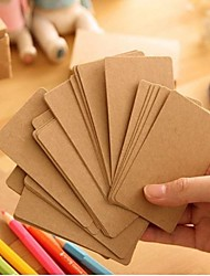 kraft carte de papier (100 pages)
