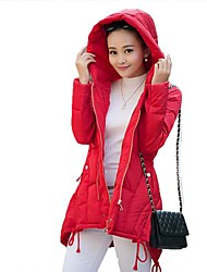 Women's Hoodie Thickening Zipper Long Sleeve Down&Parka