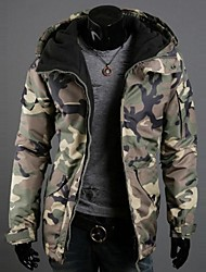 capuche camouflage de la mode cardigan occasionnel de haute qualité manteau de coton de o de lesen hommes