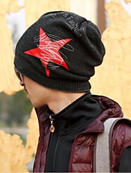 Outdoor Men and Women's Fashion Five Star Couple Wool Cap