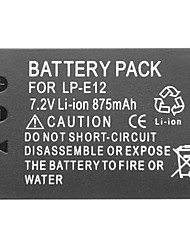 lp-e12 7.2v 875mah lithium mini-dv batttery pour canon