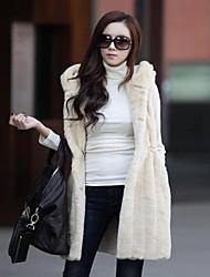 Women Faux Fur Outerwear , Hoodie