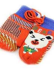 coringa da moda linda orelhas de algodão quente luvas para bebé e criança (entrega aleatória)