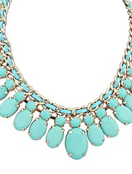 Women's Goegeous Layers Weave Drops Cluster Clearance Bib Statement Necklace