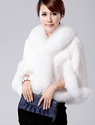 Women's Female Winter Clothing New Imitation Fur Shawl Coat Fox Fur Of Rex Rabbit Fur Coat