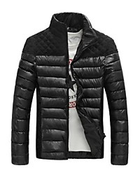 Men's Stand Neck Slim Casual Cotton-Padded Coat(Acc Not Included)