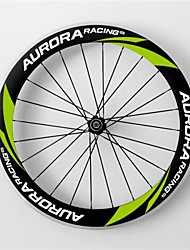 AURORA RACING Road 60C-25mm Carbon Clincher Road Bike Wheels With Alloy Brake R13 Hubs and Spain Spokes